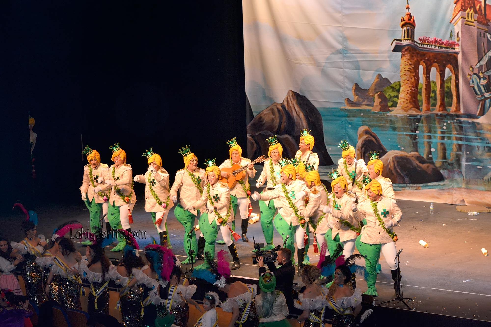 """El primer premio de murgas del Carnaval de Isla Cristina """"Los Sapos"""" participa en el Encuentro de Murgas de Valterra """"Arrecife"""""""