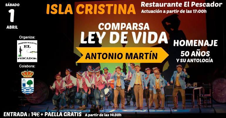 """Actuación de la Comparsa de Antonio Martín """"Ley de vida"""""""