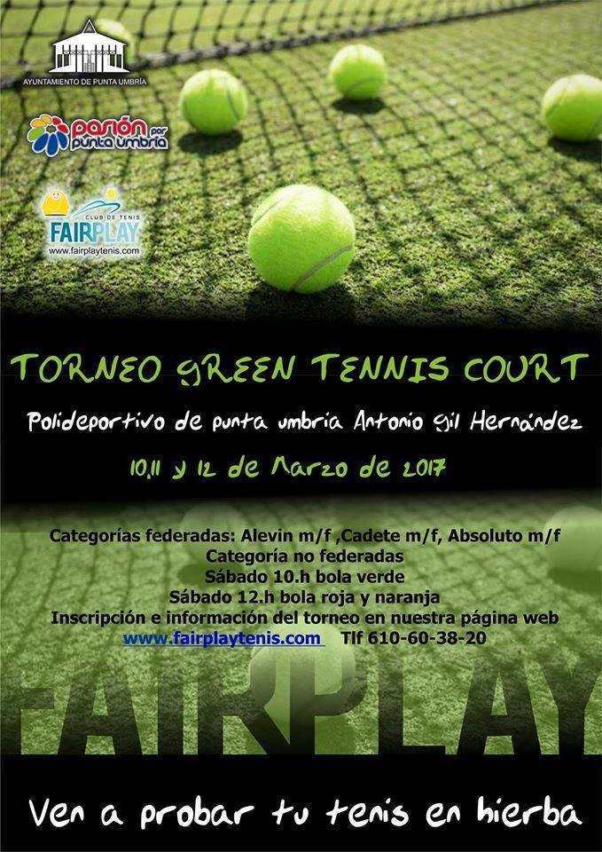 Primer Torneo Grenn Tennis Court sobre pista de hierba