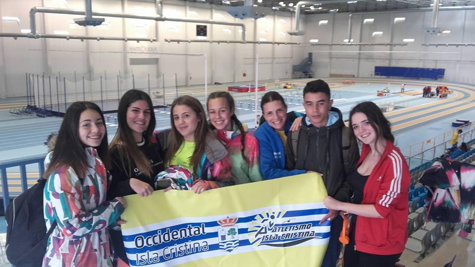 Cuatro medallas del atletismo cadete onubense en Málaga
