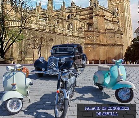El Club de Clásicos de Isla Cristina en el I Salón de Vehículos Clásicos en Sevilla
