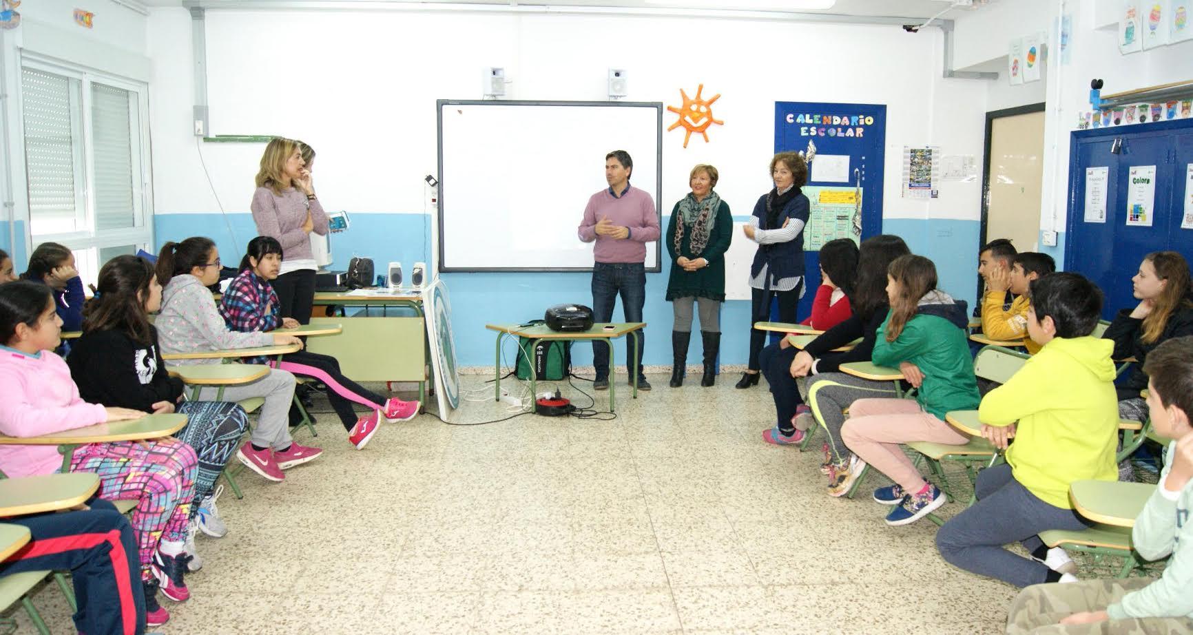 La Mancomunidad da a conocer a los escolares del CEIP El Carmen su Proyecto Islantilla Innova