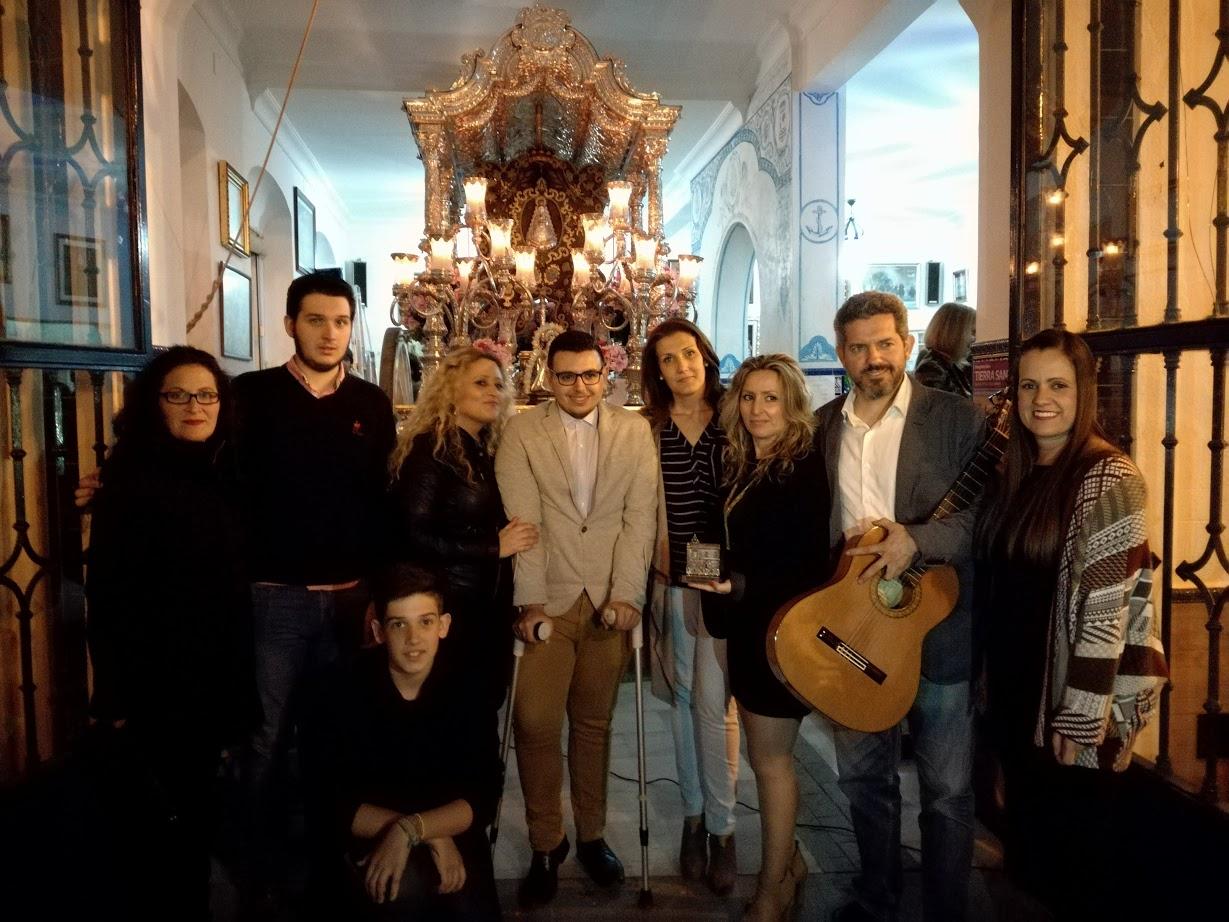 Emilio Jesús López Maestre cantó la salve en la Hermandad del Rocío de Isla Cristina
