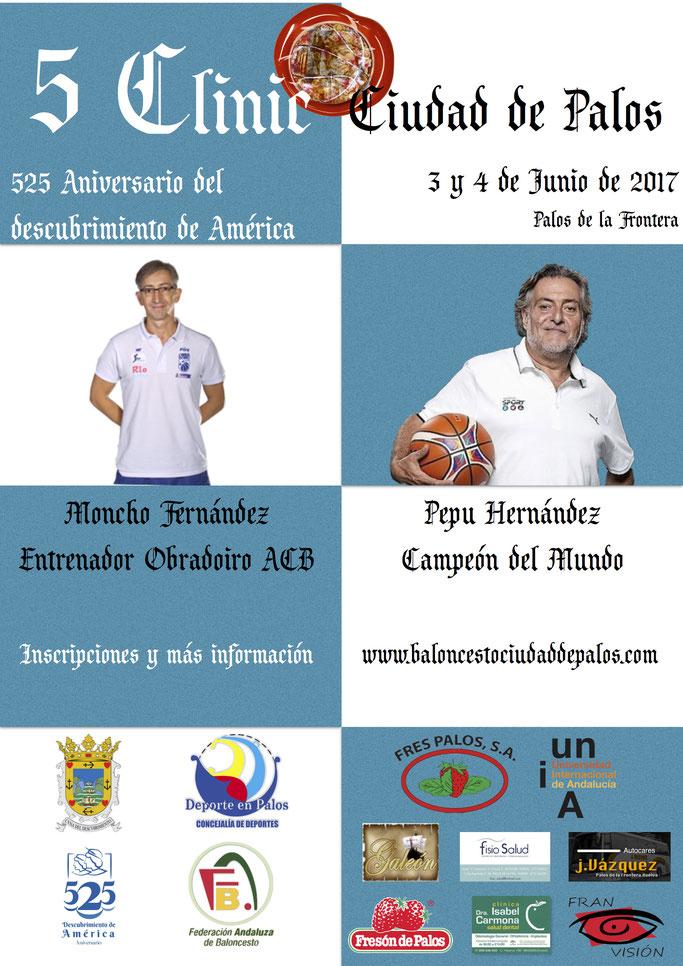 Pepu Hernández y Moncho Fernández en el 5 Clinic de Baloncesto Ciudad de Palos