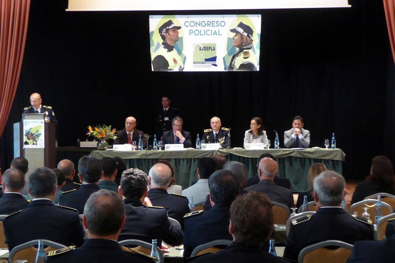 Inauguración del XV Congreso de la Asociación de Jefes y Directivos de la Policía Local de Andalucía en Islantilla