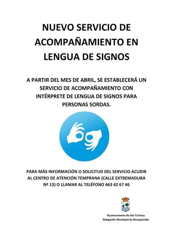 Nuevo servicio para personas sordas en el Ayuntamiento de Isla Cristina