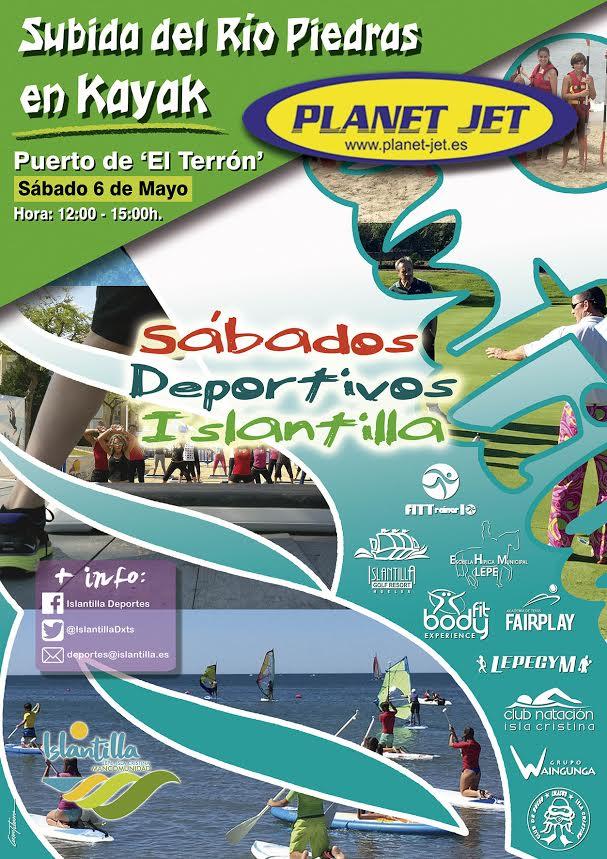 Subida del río Piedras en Kayak en los 'Sábados Deportivos' de Islantilla