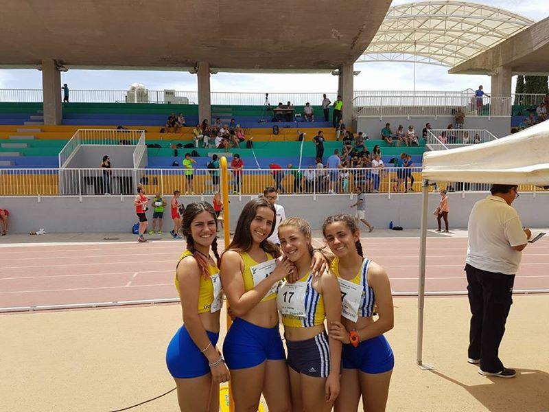 El C.A. Isla Cristina medalla de bronce del Campeonato de Andalucía de Relevos 4X100