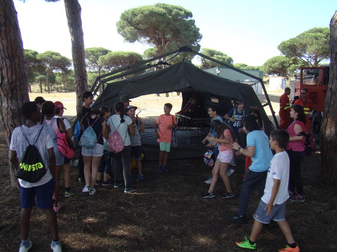 Visita de Colegios de Educación Primaría al Establecimiento Militar el Picacho, con motivo de la Semana de Puertas Abiertas, DIFAS 2017