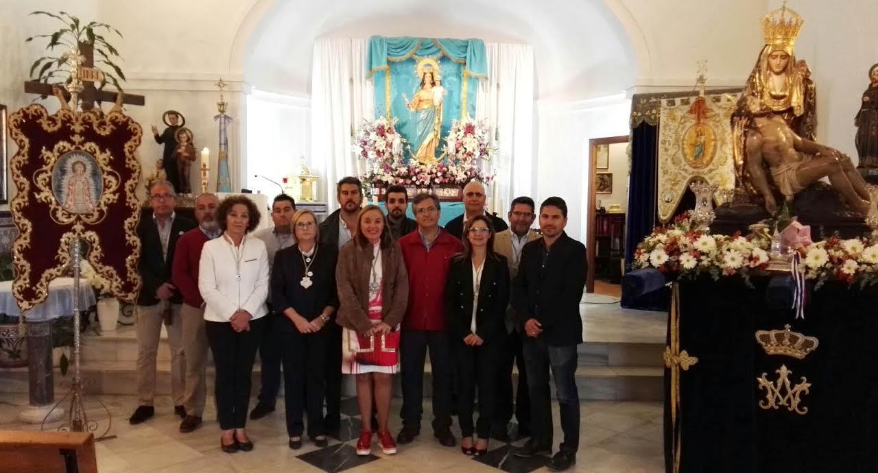 La Patrona de Isla Cristina, presente en el Rosario de Antorchas en Pozo del Camino