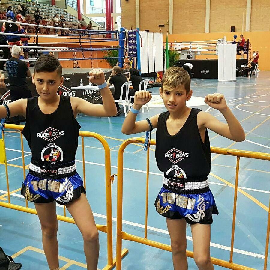 """Los isleños, Daniel Rodríguez y Miguel Pérez """"Campeones de España"""" en el Nacional de Muay Thai"""