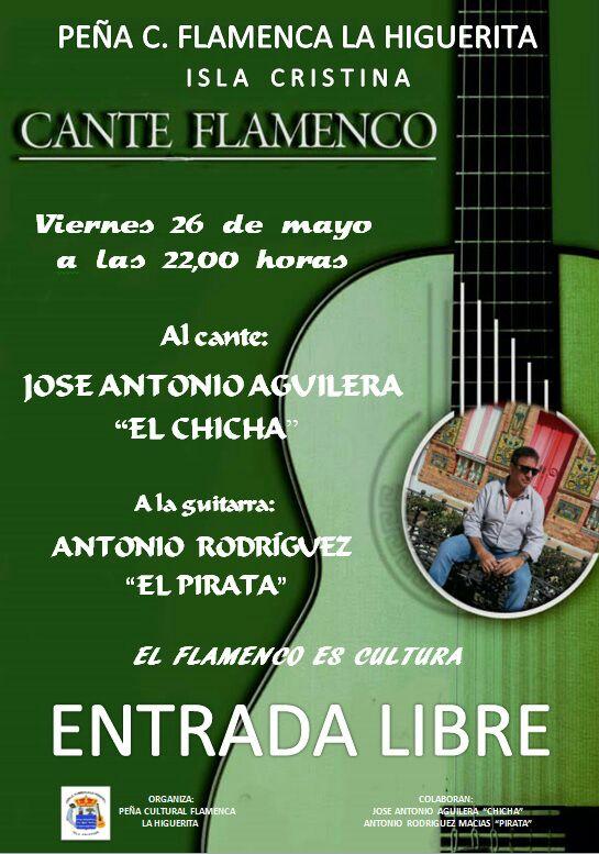 Cante Flamenco del isleño José Antonio Aguilera 'El Chicha' en la Peña Flamenca La Higuerita de Isla Cristina