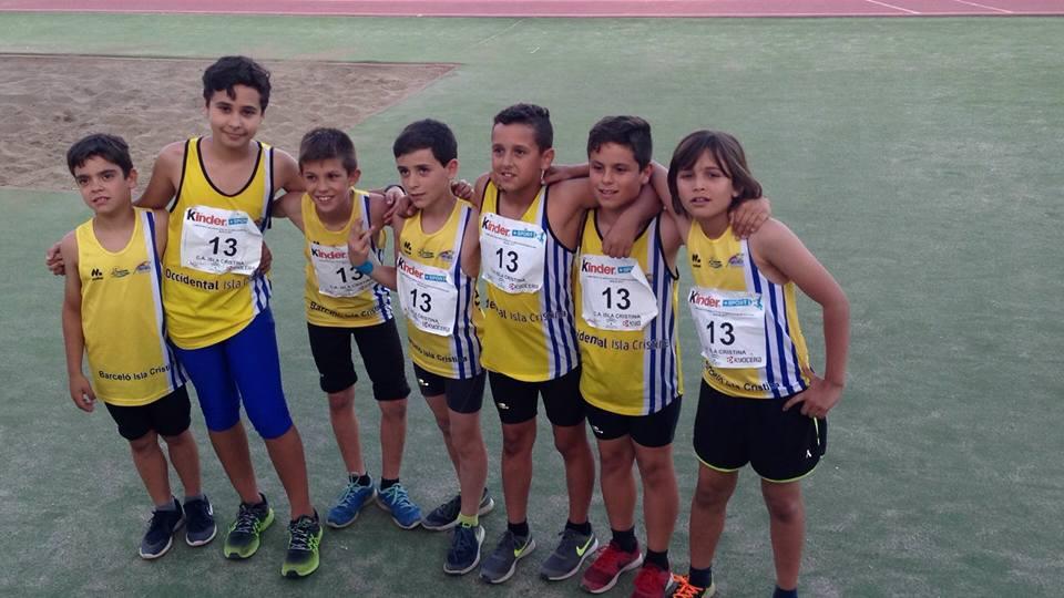 La cantera onubense al campeonato de Andalucía de Atletismo Alevín