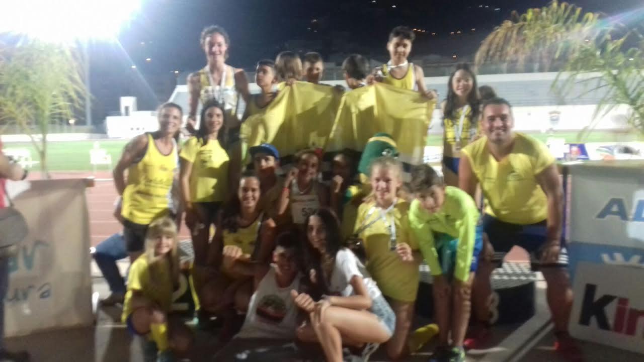 La cantera onubenses con 8 medallas del Andaluz Infantil de Atletismo