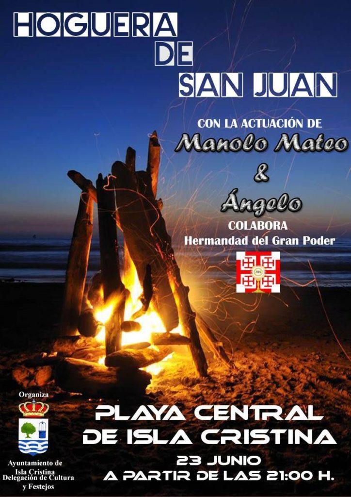 la tradicional Hoguera de San Juan mañana viernes en la Playa Central de Isla Cristina
