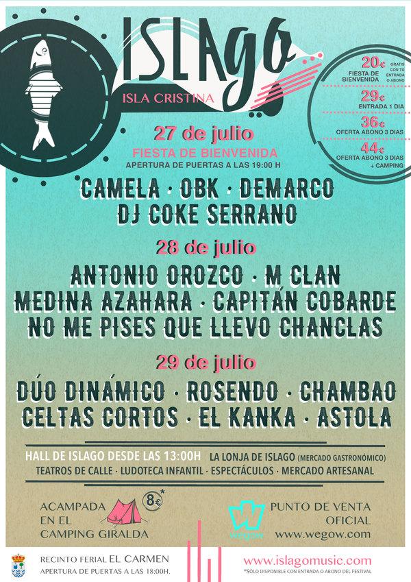 El festival IslaGo de Isla Cristina amplía su cartel para el día de la inauguración