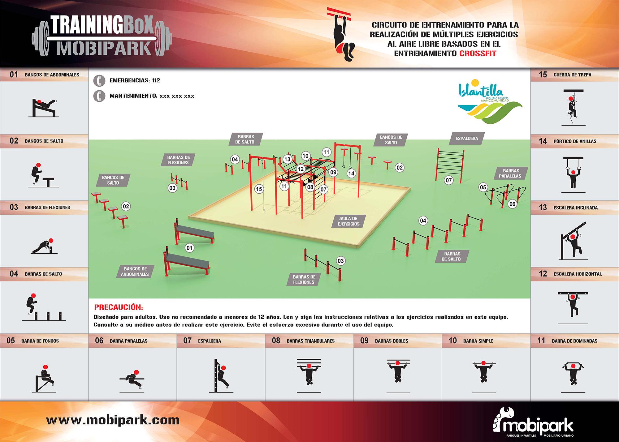 Islantilla estrena un equipamiento de Training Box