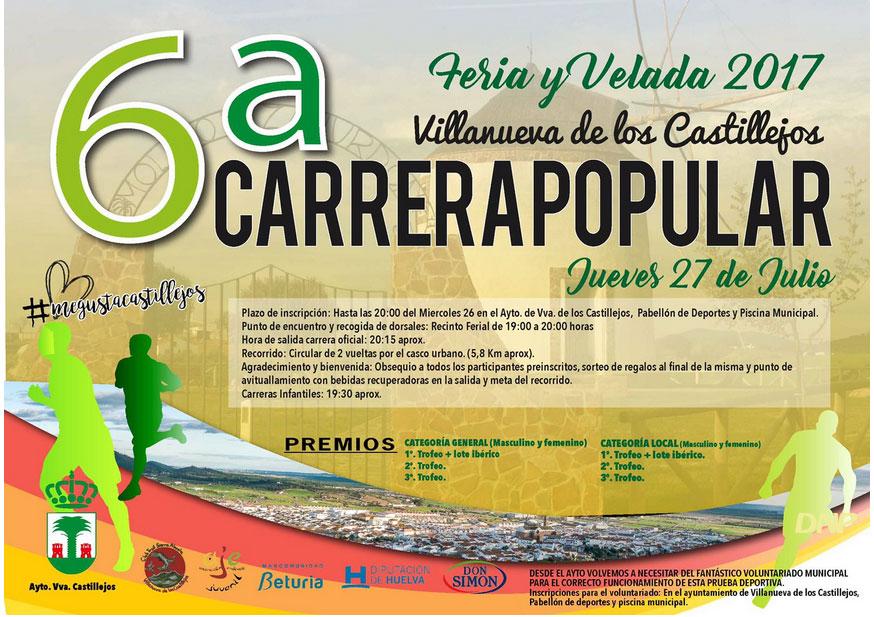 Villanueva de los Castillejos celebra la VI Carrera Popular de la Feria y Velada