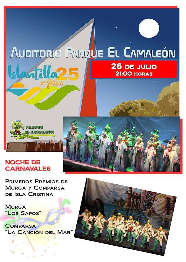 Noche de Carnaval en el nuevo Auditorio al aire libre de Islantilla