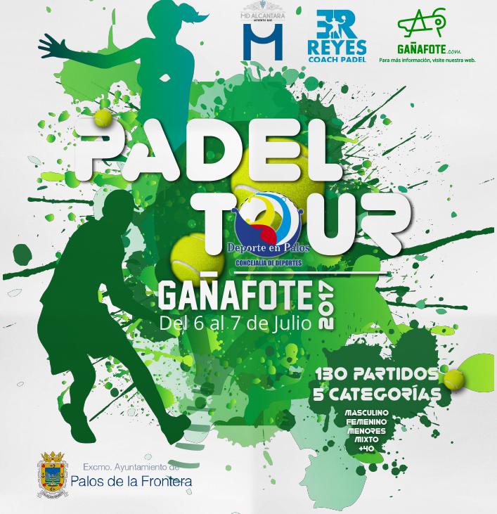 La 'Pádel Tour Gañafote' concentrará a 158 palistas en palos de la Frontera este fin de semana
