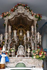 Noemí de los Santos este viernes en la Salve Rociera de la Hermandad del Rocío de Isla Cristina
