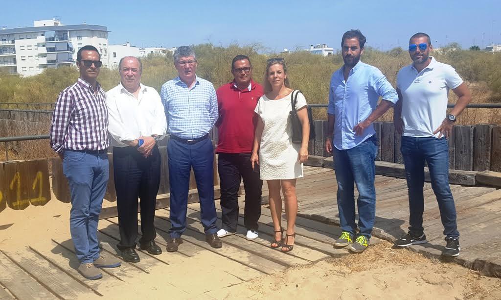 El Delegado Territorial de Medio Ambiente y Ordenación del Territorio visita Isla Cristina