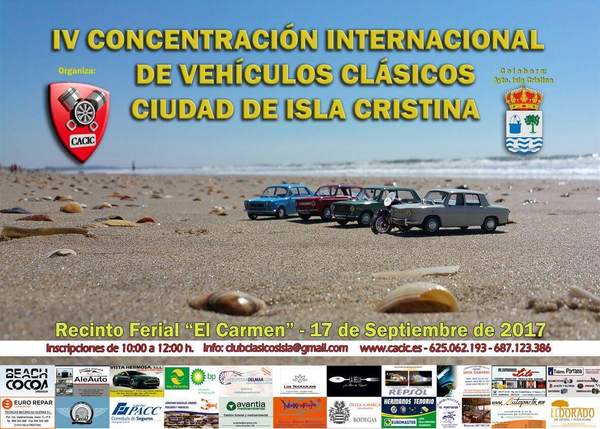 Programa para la IV Concentración Internacional de Vehículos Clásicos Ciudad de Isla Cristina