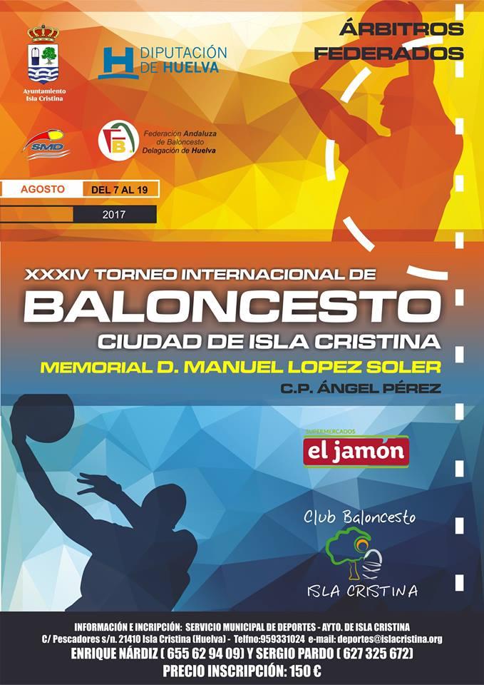 Abierto el plazo de inscripción para el XXXIV Torneo Internacional de Baloncesto Ciudad de Isla Cristina