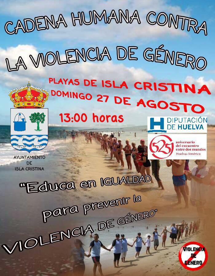 II Cadena Humana Contra la Violencia de Género en Isla Cristina