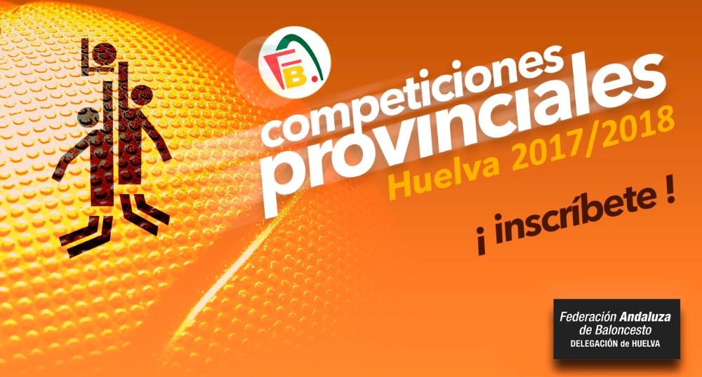 Abierto plazo inscripción Competiciones Provinciales de Baloncesto 2017/2018