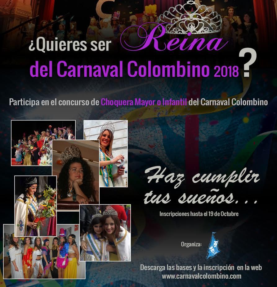 Quieres ser Reina del Carnaval Colombino 2018?