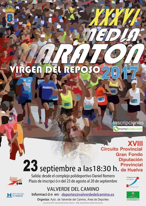 Valverde acoge la XXXVI Media Maratón Virgen del Reposo