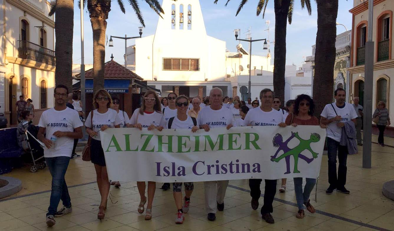 La Marcha contra el Alzheimer recorre Isla Cristina