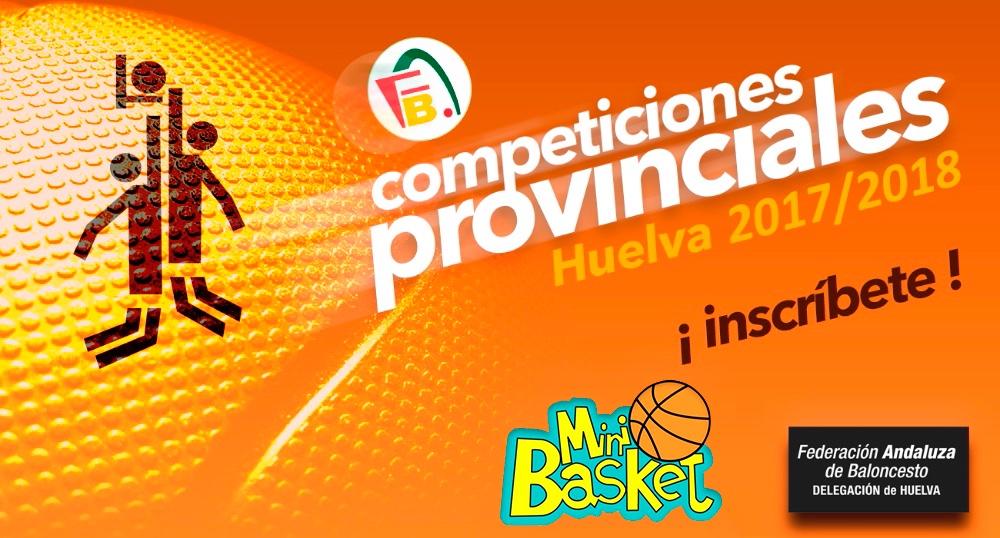 Últimos días para inscribirse en las categorías MINI A, MINI B y PREMINI, en las Competiciones Provinciales de baloncesto 2017/2018