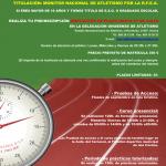 Último día de matriculación para el curso de Monitor Nacional de Atletismo que se celebrara en Isla Cristina