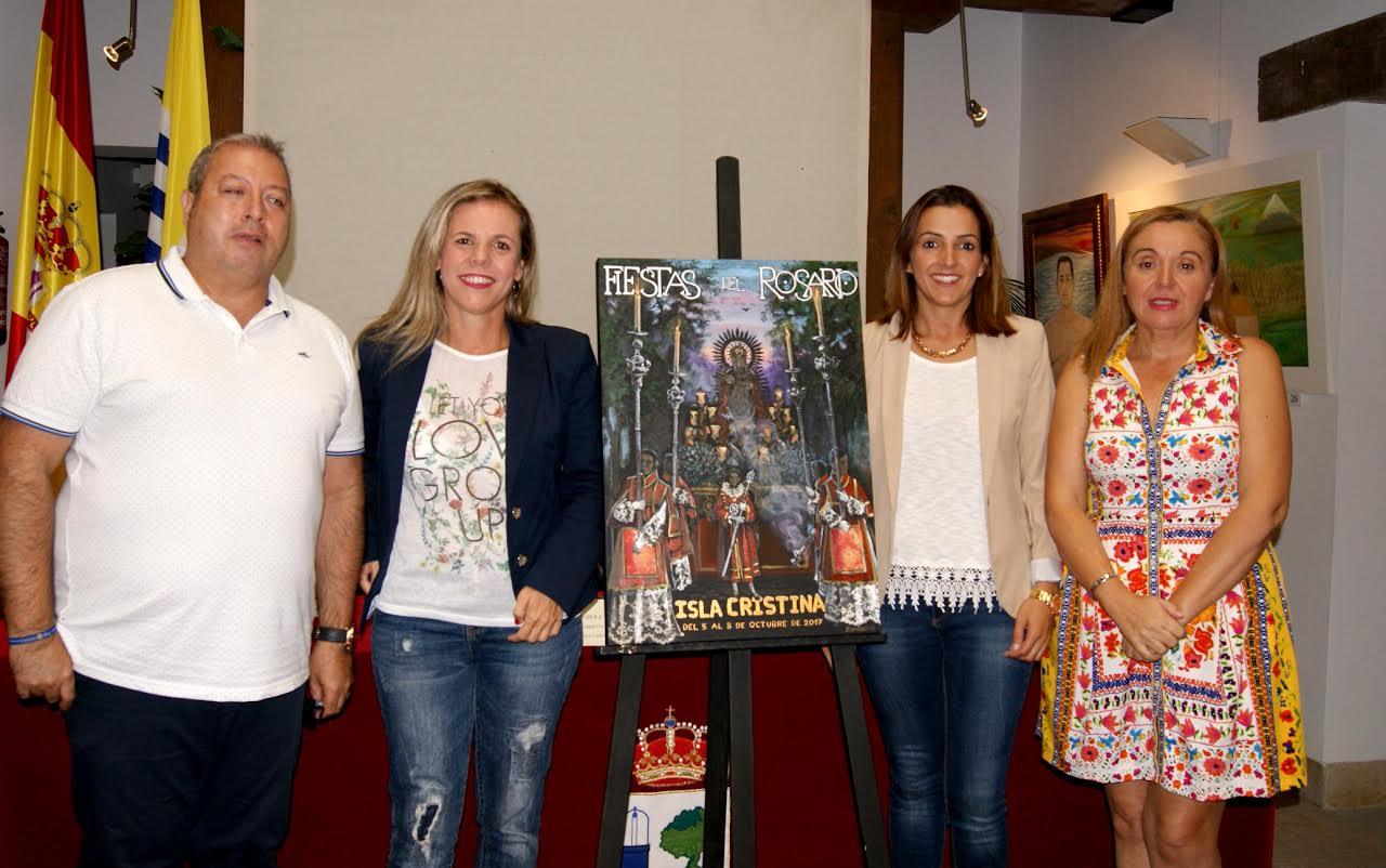 El Ayuntamiento y el Consejo de Hermandades dan a conocer el cartel y la programación de las Fiestas del Rosario de Isla Cristina