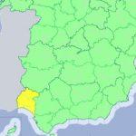 Aviso amarillo en la provincia de Huelva por lluvias para este viernes