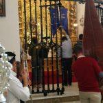 Representación de la hermandad del Rocío de Isla Cristina con Manzanilla y Emigrantes en la Aldea y con la Bella en Lepe