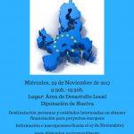 Taller sobre financiación europea para entidades locales. 29-Noviembre Diputación de Huelva