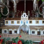 Ambiente navideño en la Zambomba de la Hermandad del Rocío de Isla Cristina