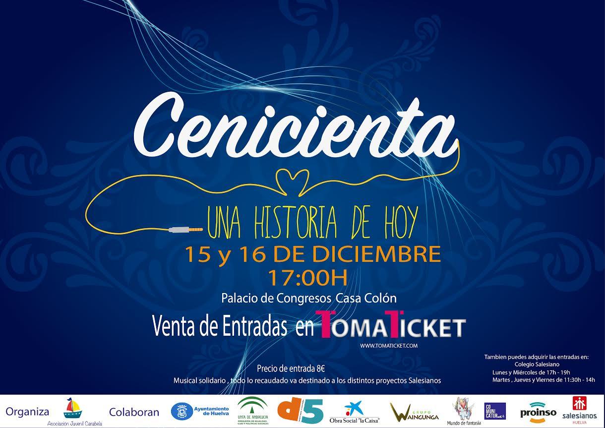 La asociación juvenil Carabela presenta su Musical Solidario 'Cenicienta, una historia de hoy'