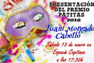 """Espacio Capitana de Isla Cristina acoge el próximo sábado la Presentación del premio Manuel Fragoso """"El Patitas"""" 2018"""