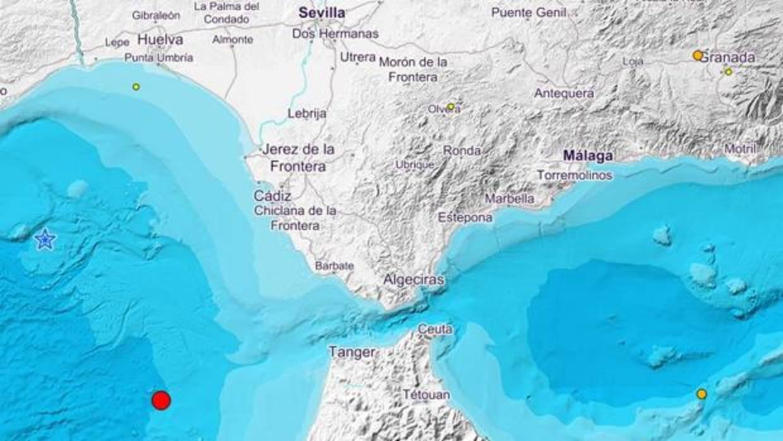 Dos terremotos se ha dejado sentir entre el Golfo de Cádiz y Huelva en las últimas horas