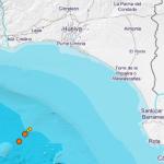 Cuatro maremotos seguidos esta madrugada en un mismo sitio frente al litoral de Huelva