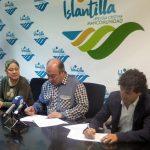 Firma del contrato de concesión administrativa para la gestión de la Tirolina de Islantilla y dotaciones del Parque 'El Camaleón'