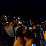 Entorno a 3.000 personas llenaron la Playa Central isleña para presenciar la Hoguera de San Juan