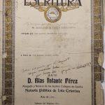 Escritura Pública otorgada ante el Notario D. Blas Infante Pérez