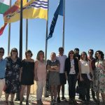 Isla Cristina ya tiene izadas sus cuatro Banderas Azules