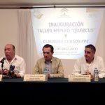 inauguración del Taller de Empleo Quercus y de la clausura de los cursos de formación para el empleo en el Centro de Formación CEFO de Islantilla