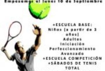 Comienza la Escuela de Tenis Fairplay del Curso 2018-2019